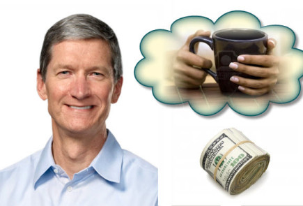 tim cook coffee date