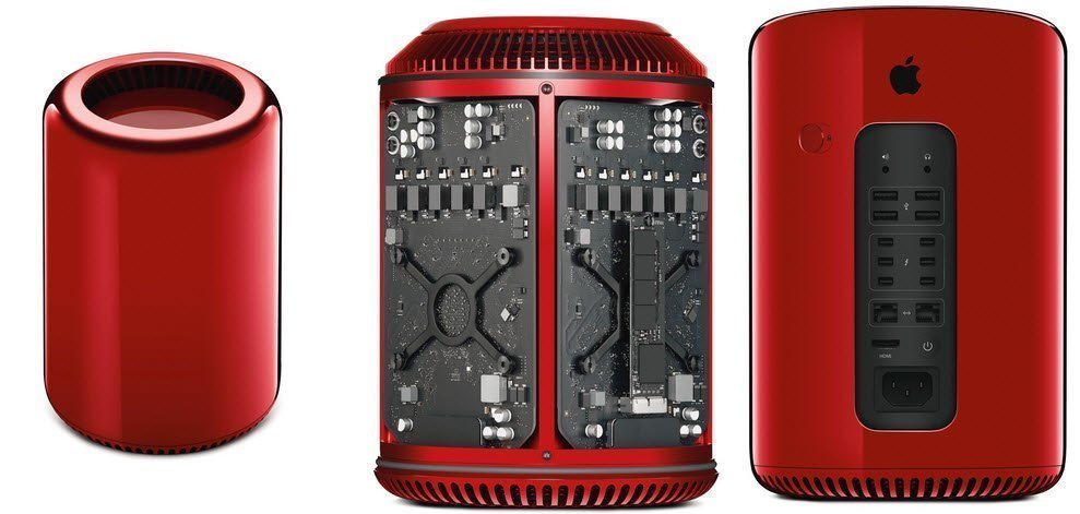 mac pro in red