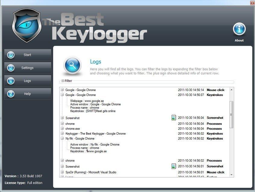 hacker keylogger