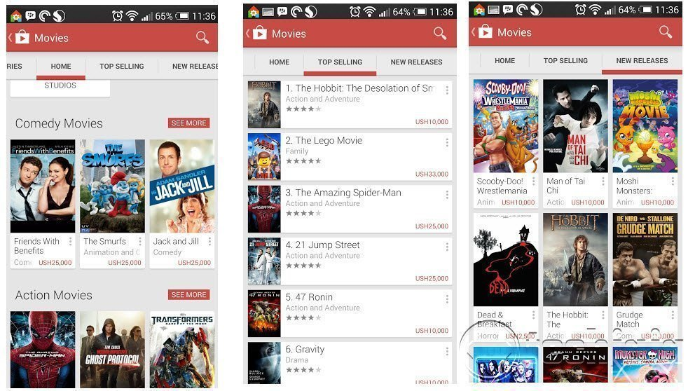 Google play movies in Ugadan