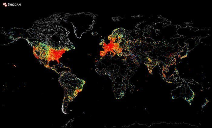 Internet devices in the world 2014