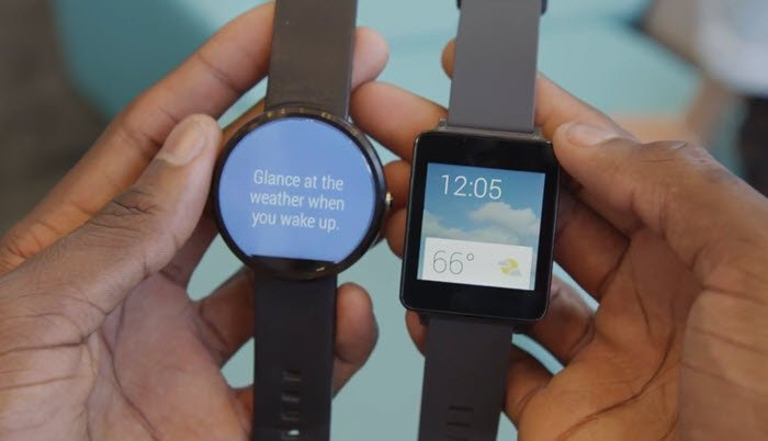 Moto 360 with LG G Watch