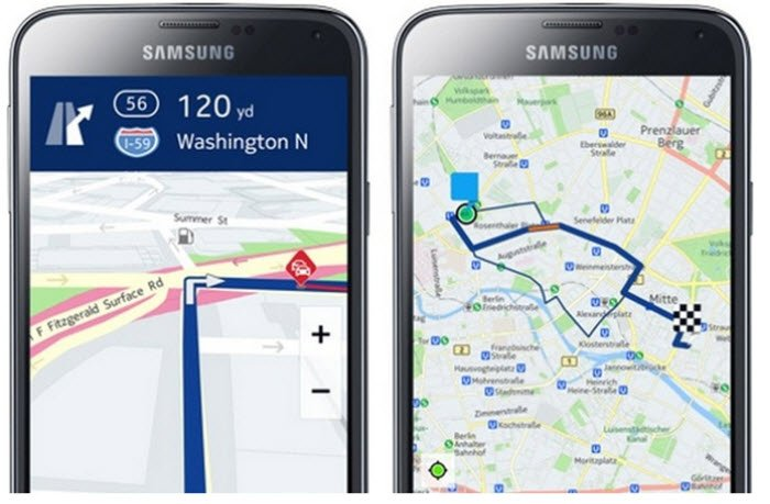 Nokia Here maps on Samsung Galaxy