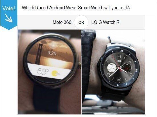 Moto 360 Vs LG G Watch R