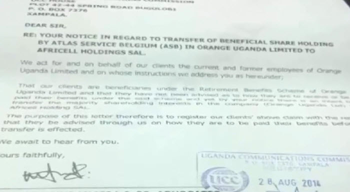 Letter to UCC  from the Law Firm (intention to sue