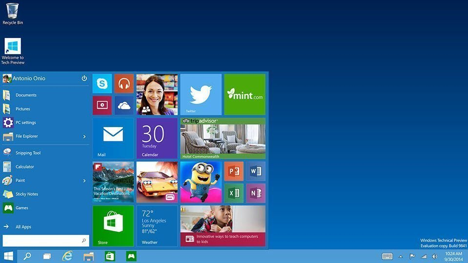 Windows 10 Technical build