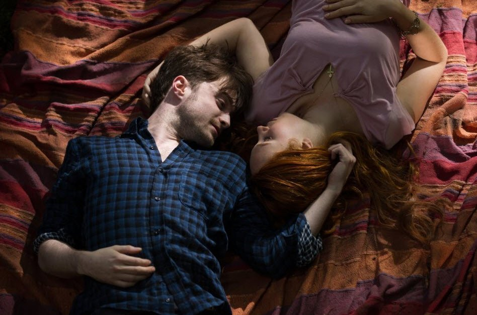 Daniel Radcliffe and  JunoTemple: Romantic Scence