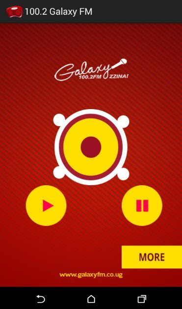 100.2 Galaxy FM user interface
