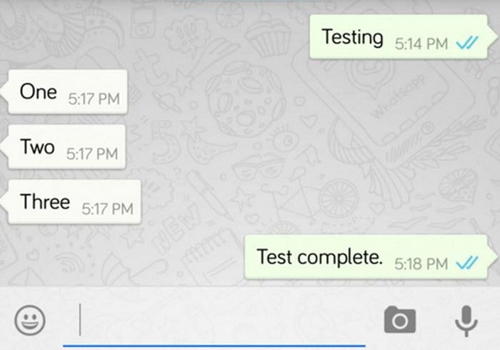 WhatsApp double tick