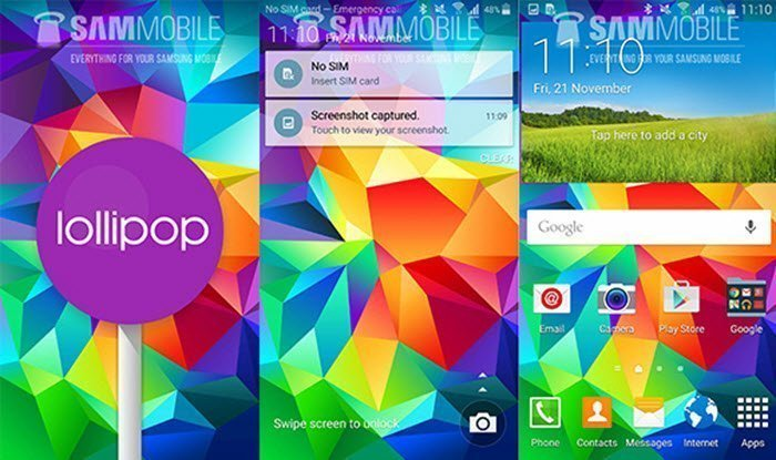 Galaxy s5 Android 5.0