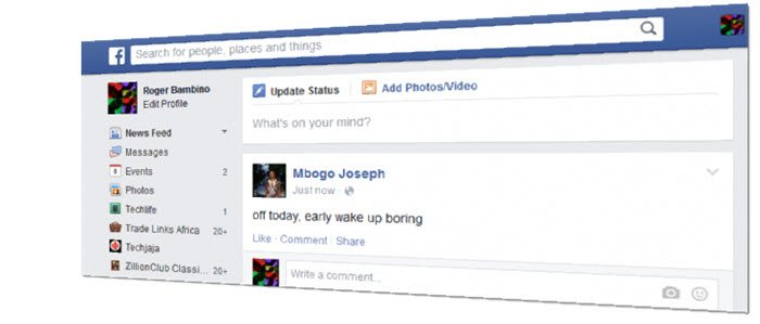 search on facebook