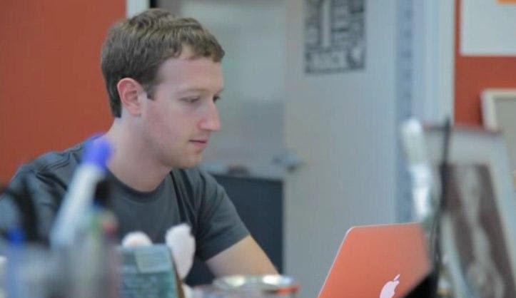 Mark Zuckerberg at office