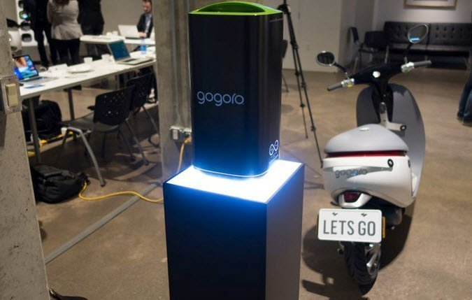 gogoro scooter charged