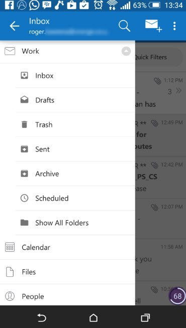 outlook android and ios