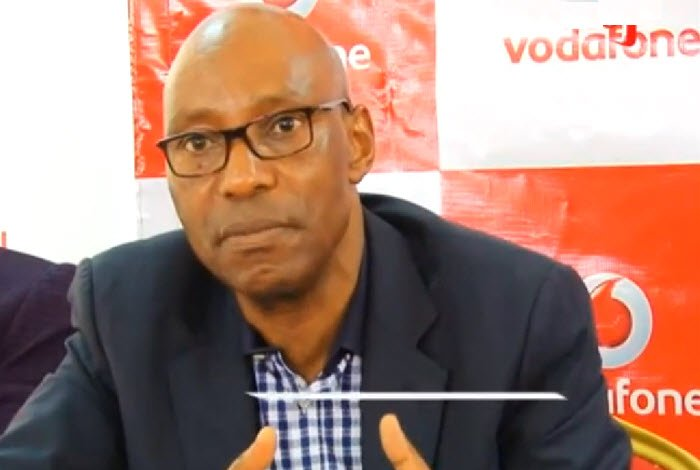 Godfrey Mutabazi UCC ED at Vodafone launch