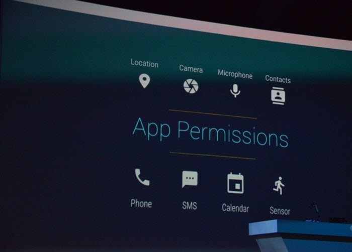 Android M App permissions IO 2015