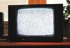 analog TV with White noise