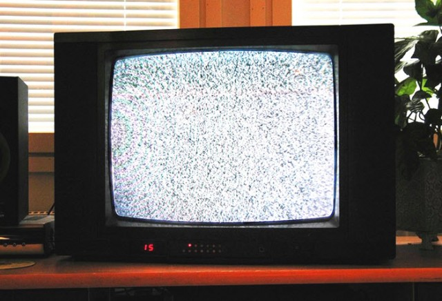 analog TV with White noise