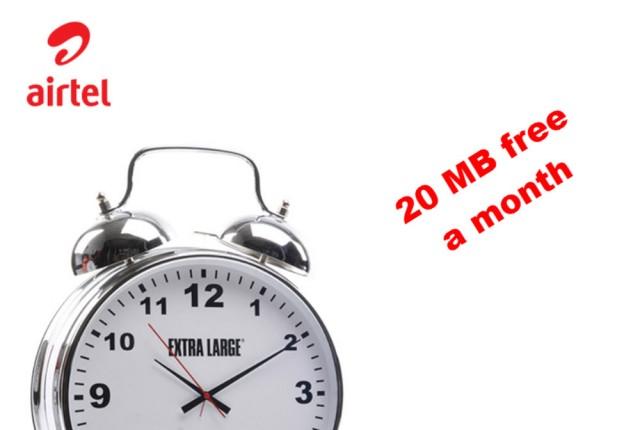 Airtel 20 MB free