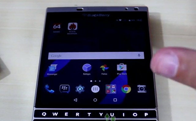 Blackberry Passport running Android