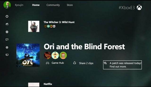 Xbox dashboard 2015