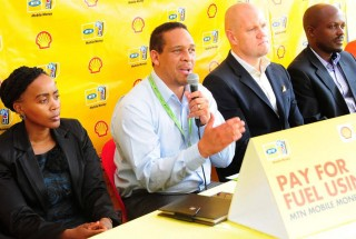 Hans Paulsen, the Managing Director, Vivo Energy Uganda briefing the press