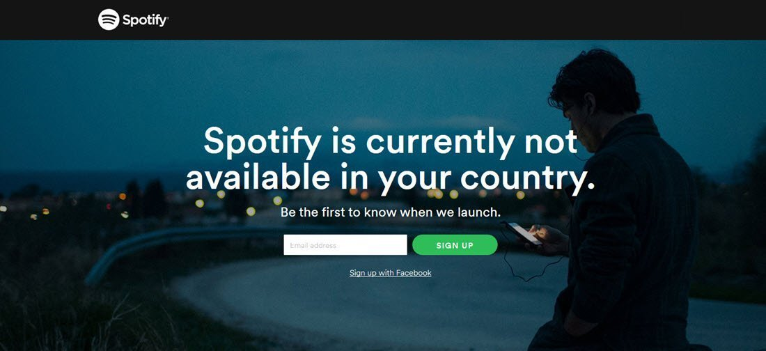 Not available in your country_spotify