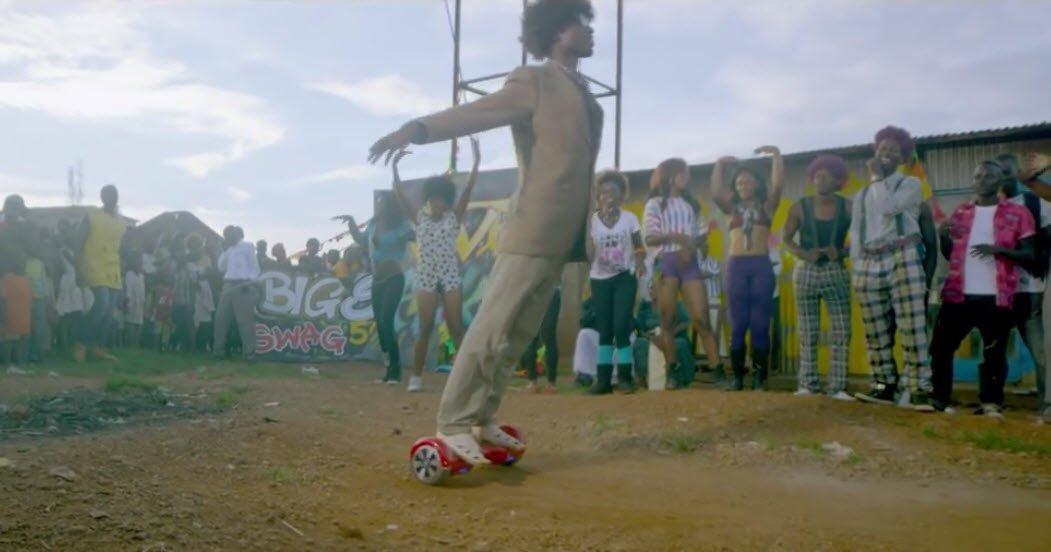 Hoverboards in uganda music video