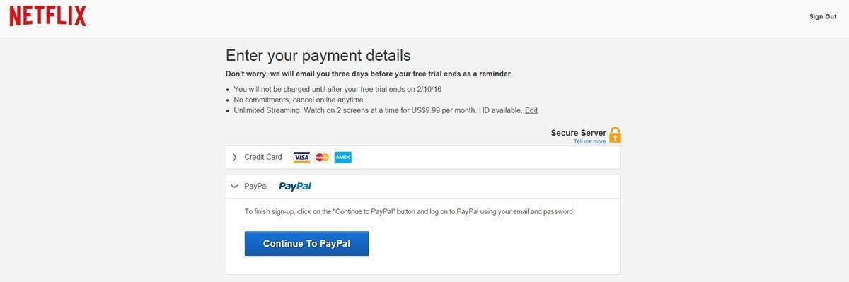 Netflix Payment