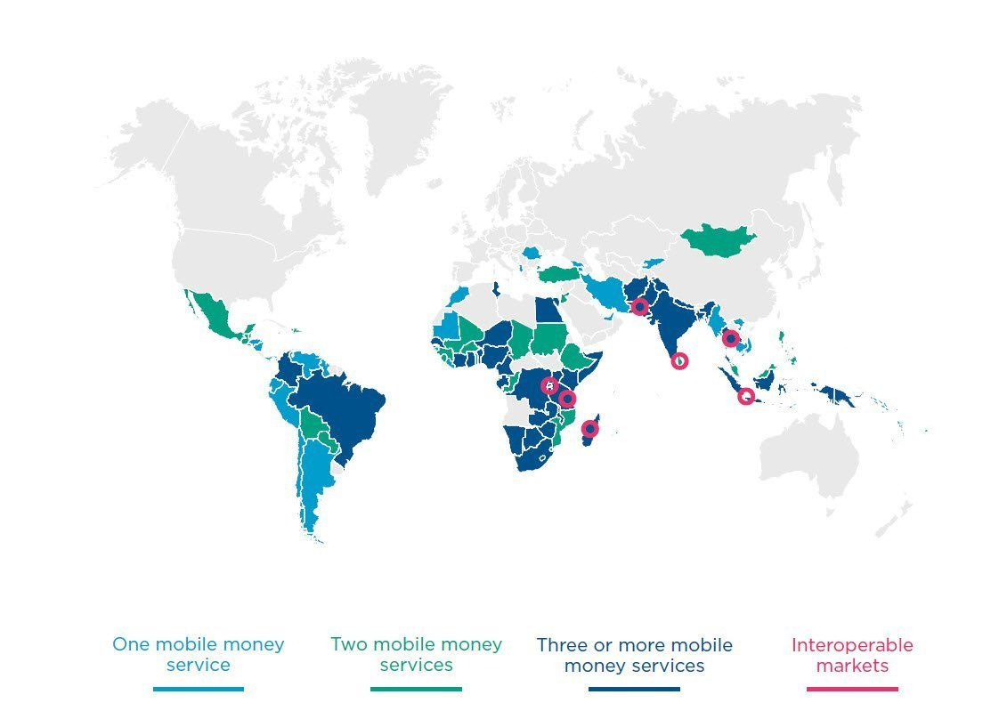 Number of live and interoperable mobile money services
