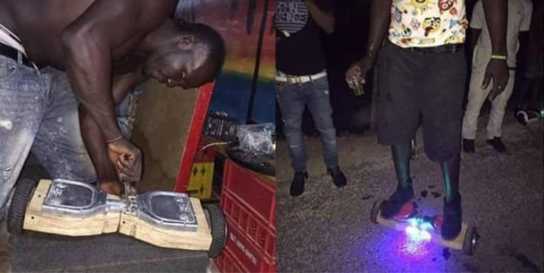 hoverboard in Africa