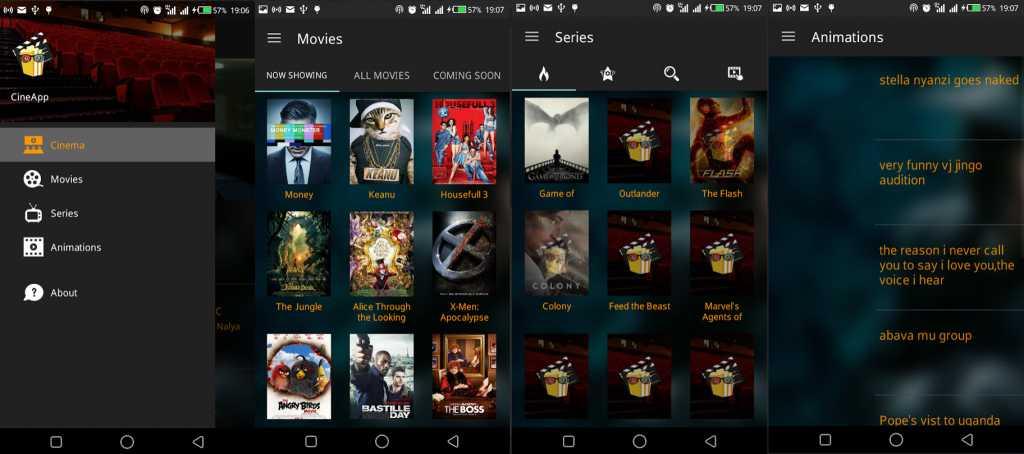 CineApp overview