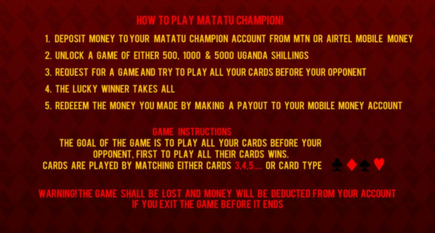 Matatu Champion how to play