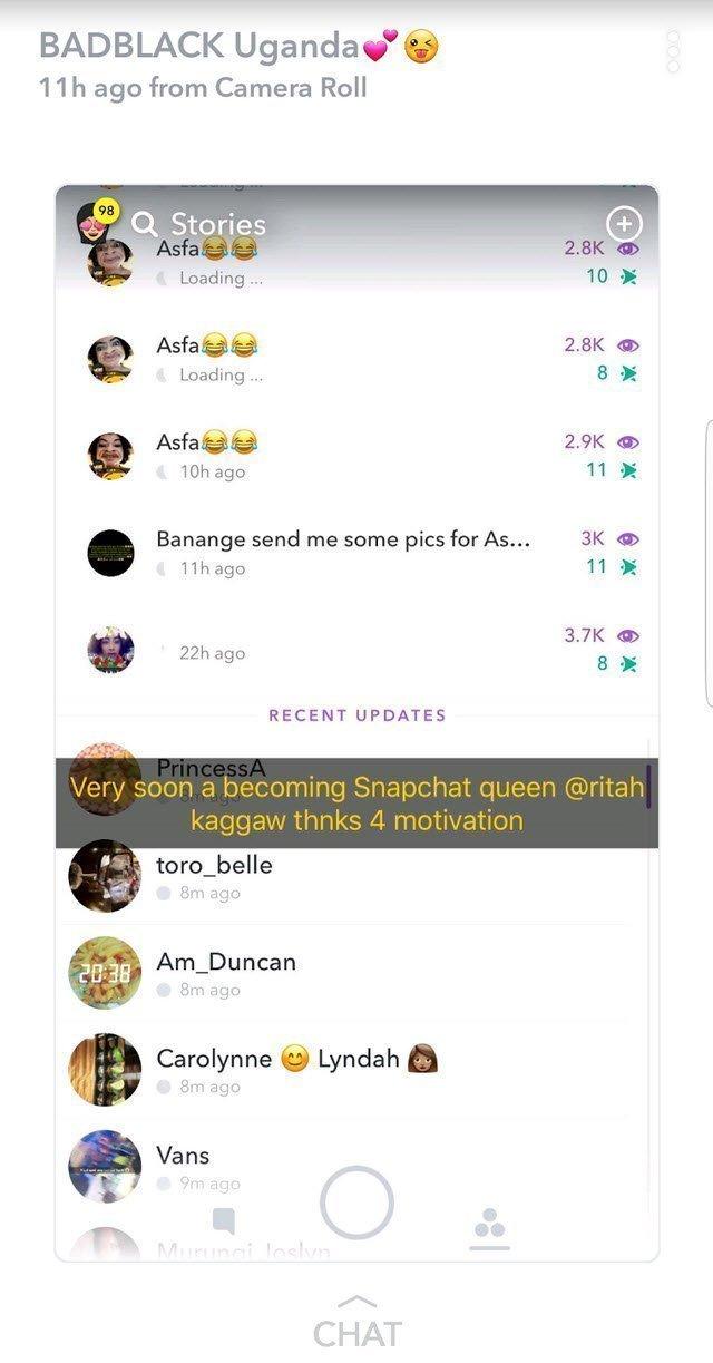 Snapchat bad black account